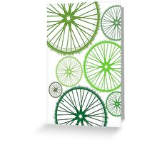 DRIVE GREEN Greeting Card