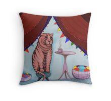 tigers do drink tea Throw Pillow