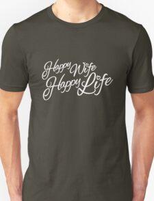 Happy wife happy life typographic Unisex T-Shirt