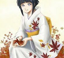 Hinata in the leaves by Spikeynator