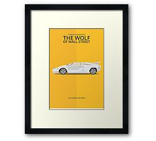 The Wolf of Wall Street - Vehicle Inspired Print Framed Print