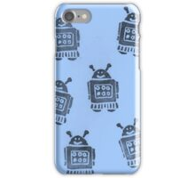 Blue Robots iPhone Case/Skin