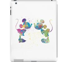 Watercolour Mickey and Minnie  iPad Case/Skin