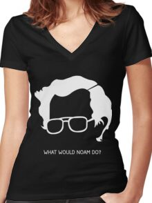 Noam Chomsky Women's Fitted V-Neck T-Shirt