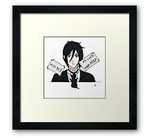 Sebastian At The Pet Shop - Black Butler Fan Art Framed Print