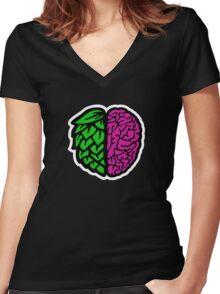 Beer Nerd Women's Fitted V-Neck T-Shirt