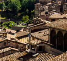 Sienese Rooftops Sticker