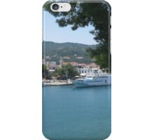 Skiathos harbour, Greece. iPhone Case/Skin