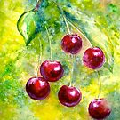 Cherries...&quot;Left Hangin&quot; by  Janis Zroback