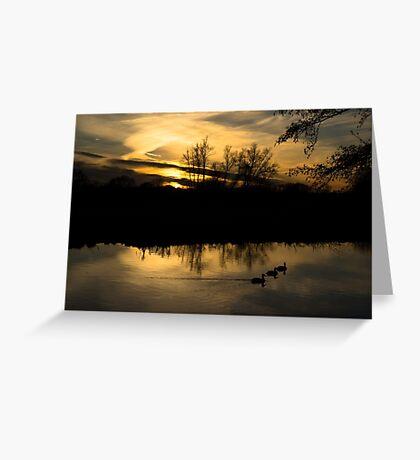 Flatford Mill Sunset Greeting Card