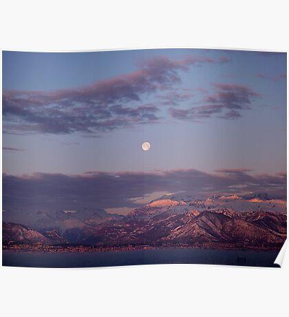 Alpine Moon Poster
