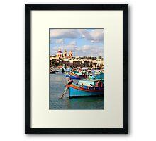 Fishing boats of Malta Framed Print