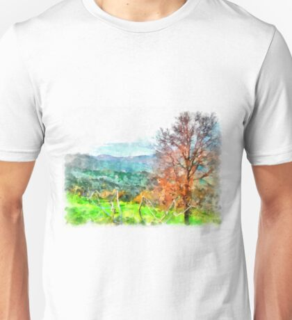 Laureana Cilento: landscape with vineyard Unisex T-Shirt