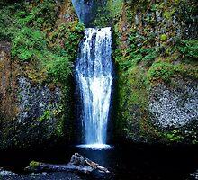 The Cross...Multnomah Falls.....upper left hand corner in the water......Multnomah Falls  Outside  Portland Oregon by trueblvr