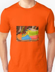 MULTI COLOURED SHOE Unisex T-Shirt