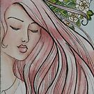 "ACEO Watercolor painting ""Gracie"" by Jaymilina"