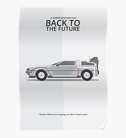 Delorean - Vehicle Inspired Print Poster