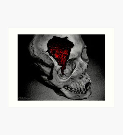 The skull of The Maquis De Sade Art Print