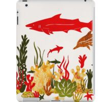 Coral Reef With Shark and Dolphin Papercut iPad Case/Skin