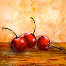 Cherries...Three by ©Janis Zroback
