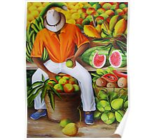 Manuel the Caribbean Fruit Vendor Poster