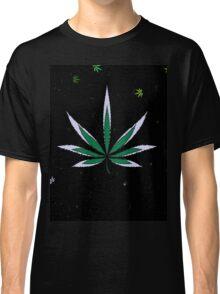 Colorful Marijuana Leaves Classic T-Shirt