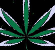 Colorful Marijuana Leaves Sticker