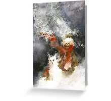 A friend in winter Greeting Card