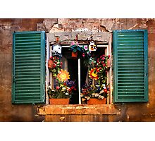 Tuscan window - Siena Photographic Print