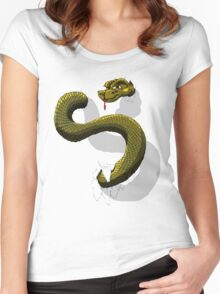 Snake-o-Rooter! Women's Fitted Scoop T-Shirt