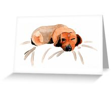 Dachshund Pout Greeting Card