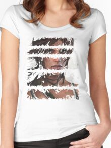 Lara Croft Torn Women's Fitted Scoop T-Shirt