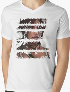 Lara Croft Torn Mens V-Neck T-Shirt