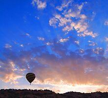 Balloons over Sunrise by Terry Watts