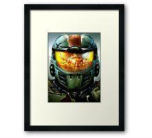 Halo Spartan Visor Relection Framed Print