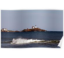 Nubble Lighthouse in the Distance Poster
