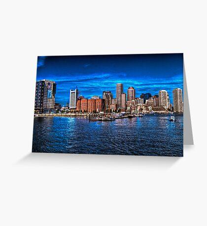 Boston Harbor Greeting Card