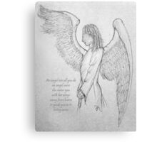 An angel's arms Canvas Print