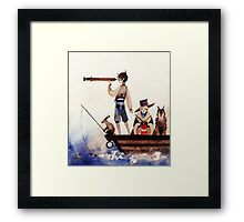 Adventerous Grandmother Framed Print
