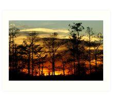 Blazing Sunset Art Print