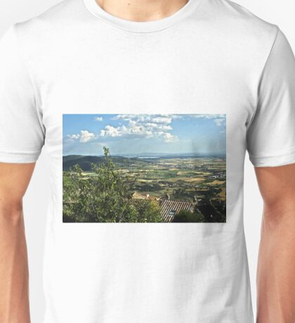 Lake Trasimeno (Italian: Lago Trasimeno) from Cortona Unisex T-Shirt