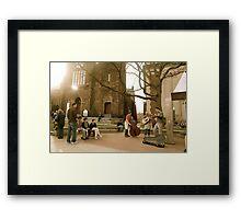 Street Performers Framed Print