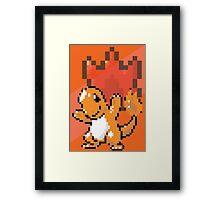 Pocket Pixel Red Pixel Art Framed Print