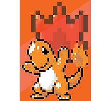 Pocket Pixel Red Pixel Art Photographic Print