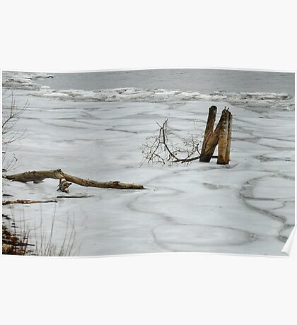 Ice on Lake Ontario Poster