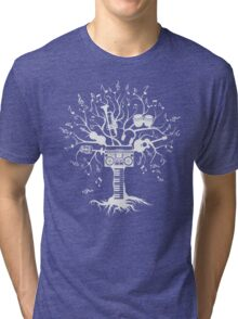 Melody Tree - Light Silhouette Tri-blend T-Shirt
