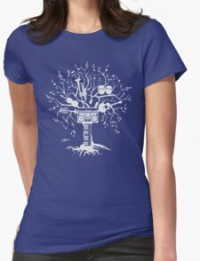 Melody Tree - Light Silhouette Womens Fitted T-Shirt