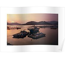 Fishing Boats South Korea Poster