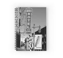 Modernism in San Fran - Black & White Spiral Notebook