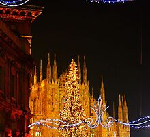 Milan. Duomo with Street Lights. Italy 2010 by Igor Pozdnyakov